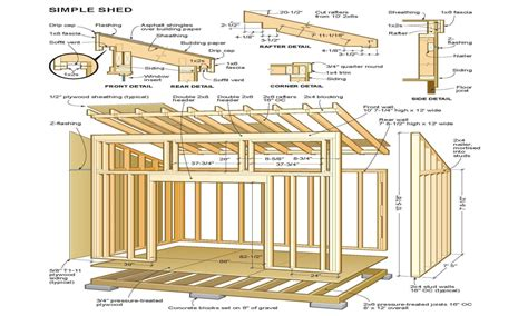 shed roof cabin with loft house plans