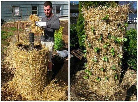 Hay Planter by Straw Tower Vertical Garden Vertical Gardening