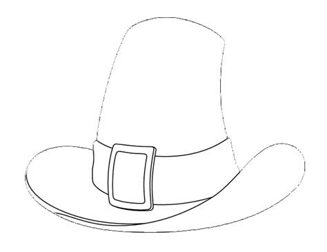 pilgrim hat coloring page sketch coloring page