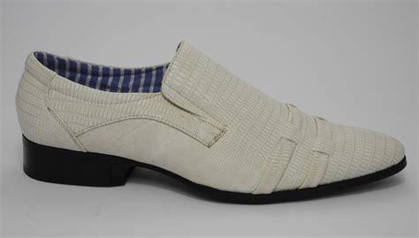 ivory dress shoes mens snakeskin look slip on dress wedding shoes ivory