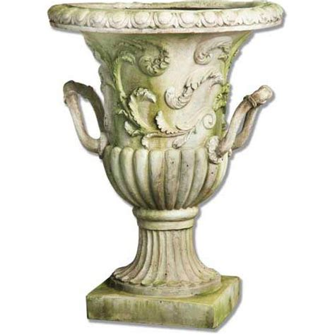 30 Inch Outdoor Planters Handle Entry Way 30 Inch Fiberglass Urn White Moss Finish