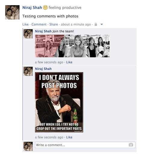 How To Post Memes In Comments On Facebook - facebook photo comments meme www imgkid com the image