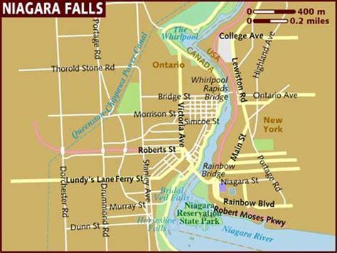 waterfalls in usa map map of niagara falls