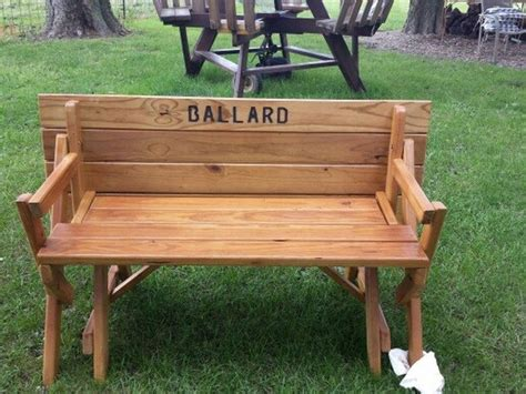 make your own picnic bench build your own convertible picnic table bench diy
