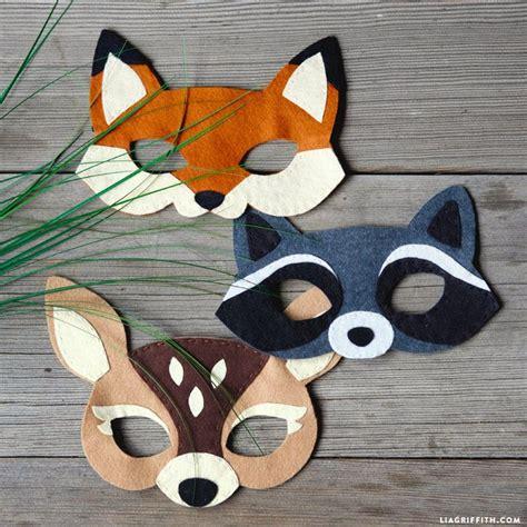 pattern for felt animal masks felt woodland masks kids s masking and tutorials