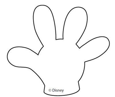 mickey mouse hands or gloves templates rm 1 d