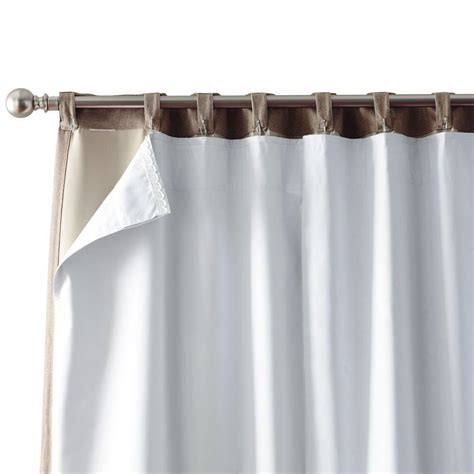 how to make tab curtains with lining home decorators collection blackout white blackout back