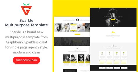 Sparkle Free Multipurpose Psd Web Template Graphberry Com Sparkle Website Templates