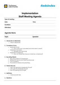 agenda for staff meeting template 6 staff meeting agenda templateagenda template sle