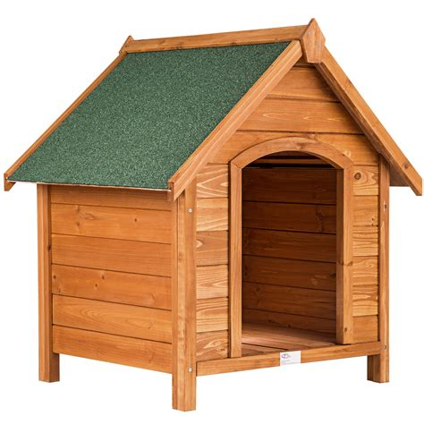 xxl dog house wooden xxl dog kennel house tar roof garden crate cage weatherproof 72x65x83cm ebay