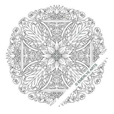 cross mandala coloring pages 175 best scottish celtic tattoos i