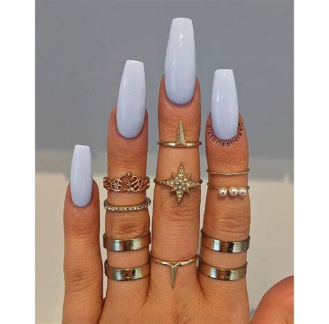 Square Daily Baby Blue best 25 light blue nails ideas on acrylic