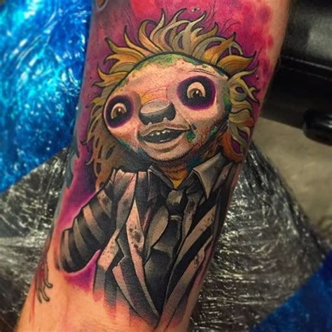 80s tattoos this s tattoos of sloths dressed as iconic 80s