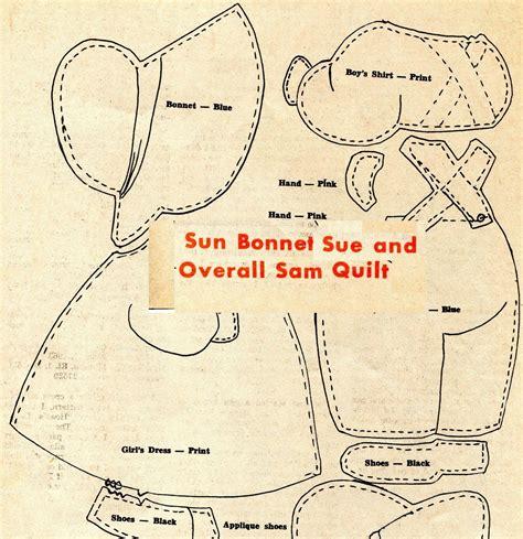 Sunbonnet Sue Applique by Vintage Sun Bonnet Sue Overall Sam Applique Quilt Pattern