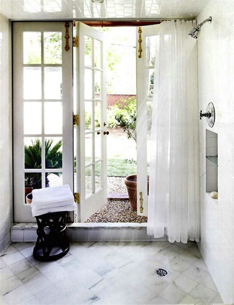 bathroom french doors french doors with brass hardware eclectic bathroom