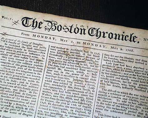 colonial newspaper template colonial america newspaper rarenewspapers