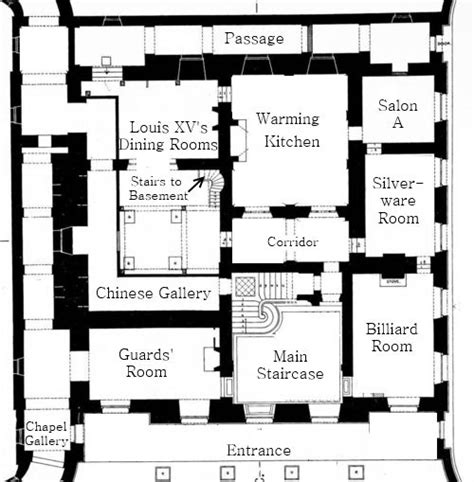 petit trianon floor plan originally built by after the plans of madame de pompadour