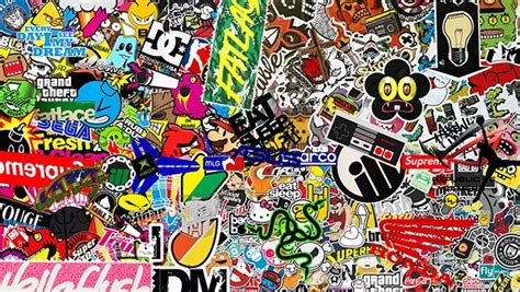sticker wallpaper sticker bomb hd wallpaper 1080p resolution on behance
