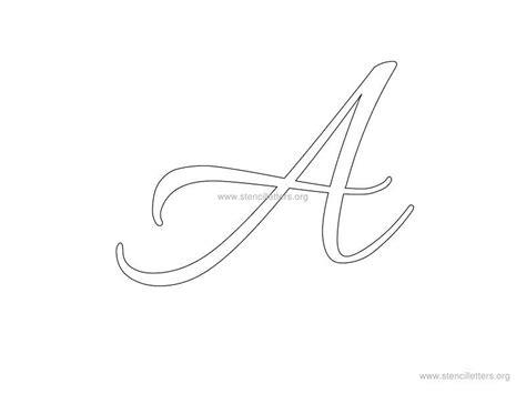 cursive wall letters cursive wall letter stencils stencil letters org