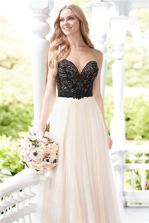 black and white wedding dresses wedding ideas by colour