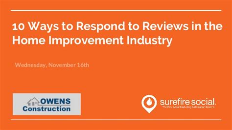 10 ways to respond to reviews in the home improvement industry