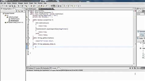 java pattern filter java tutorial file filter in jfilechooser youtube