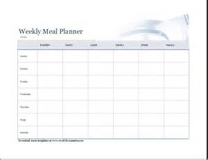 weekly meal menu template weekly shopping list and menu planner document templates