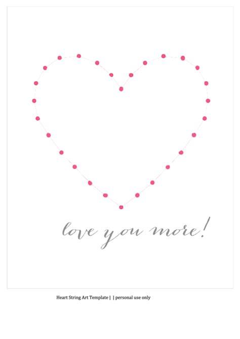 heart string art template printable