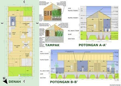 denah layout furniture denah tak dan potongan orthographic drawing pinterest