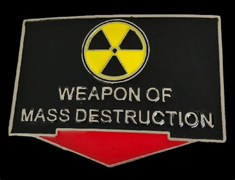 weapons of mass specters of the nuclear age books weapons of mass belt buckle weapons of