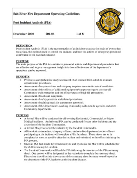 Post Incident Analysis Form Exle Fill Online Printable Fillable Blank Pdffiller Post Incident Review Report Template
