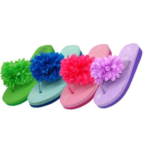Flower Flip Flops wholesale s flower top flip flops pack 48