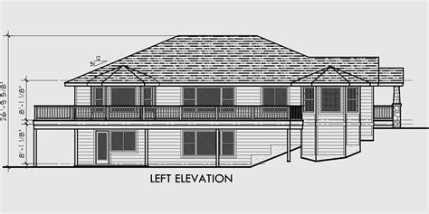 front sloping lot house plans side sloping lot house plans walkout basement house plans