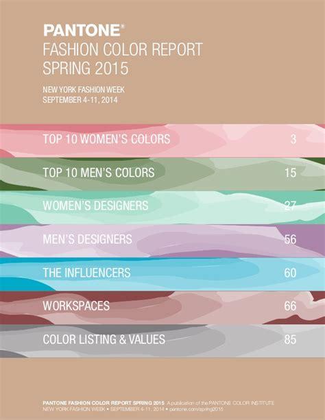 pantone color palette pantone fashion color palette 2015