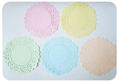 colored paper doilies pastel colored doily paper pack on luulla