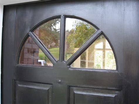 How To Cover A Glass Front Door Replacing Damaged Glass In An Entry Door House Web
