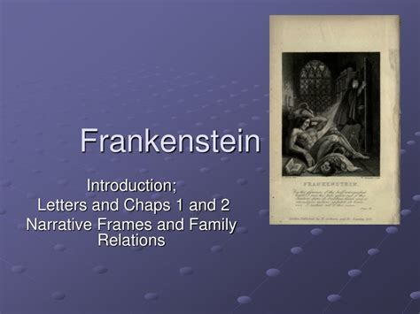 themes of the letters in frankenstein ppt frankenstein powerpoint presentation id 214690