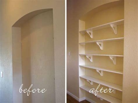 build recessed shelves diy recessed shelves recessed shelves modern