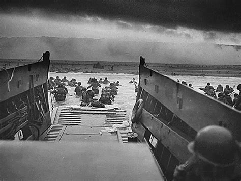 it s not a higgins boat on omaha beach the 2nd infantry division lands via higgins boat at omaha