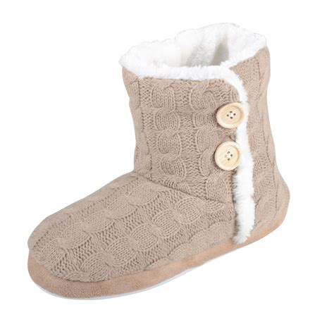 cable knit slipper boots boot slippers cable knit booties with non slip