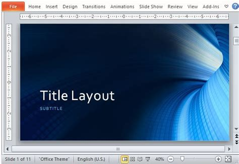 powerpoint templates for technology presentations business blue tunnel powerpoint template