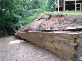 timber retaining wall options any advice