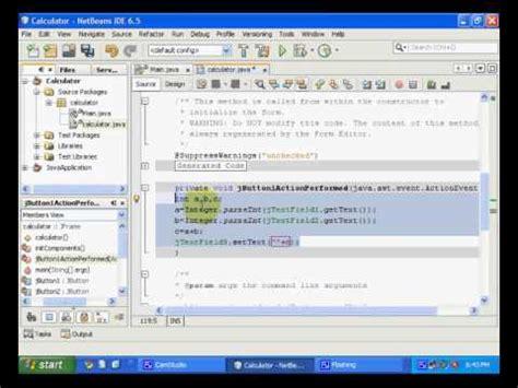 swing controls in netbeans java gui programming youtube