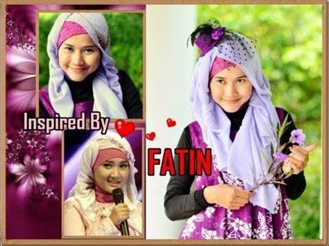 tutorial hijab paris ala fatin cara memakai jilbab modern ala fatin cara memakai jilbab