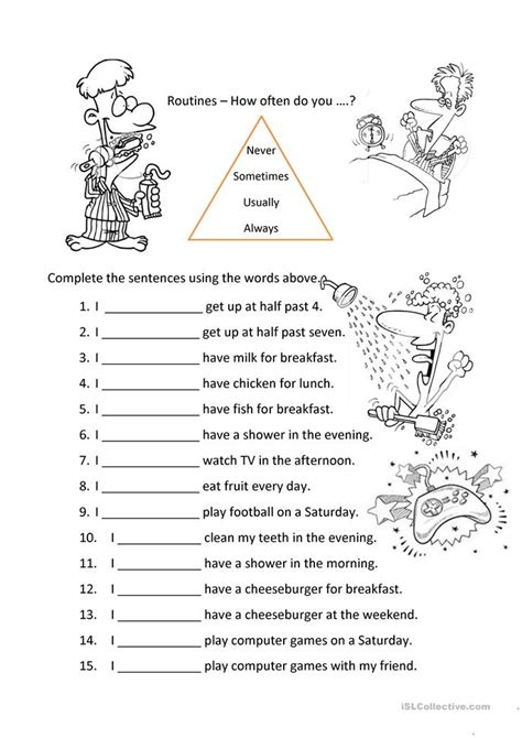 worksheets on adverbs of frequency adverbs of frequency worksheet free esl printable worksheets made by teachers
