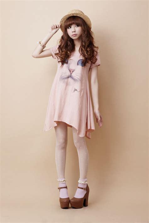 2pcs Japanese Style Dress cat printed dress japan dress fashion japanese fashion cat