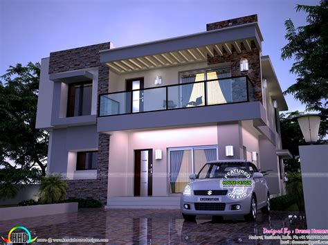 what is a contemporary home modern home in 2200 sq ft kerala home design and floor plans