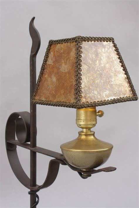 Mica Shade Table L by 1920s Small Rancho Style L With Mica Shade For Sale At