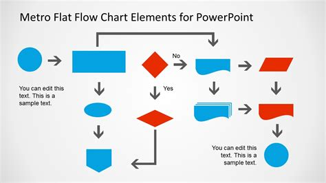 Metro Style Flow Chart Template For Powerpoint Slidemodel Flow Chart Ppt Template