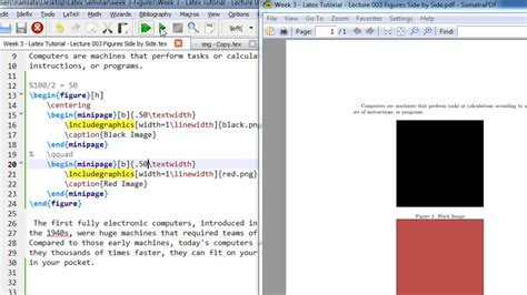 latex tutorial insert image week 3 latex tutorial lecture 003 insert images side by